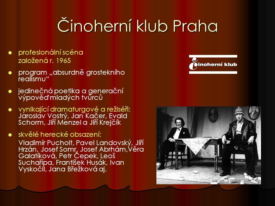 Činoherní klub Praha profesionální scéna založená r.
