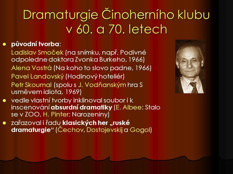 Dramaturgie Činoherního klubu v 60. a 70.