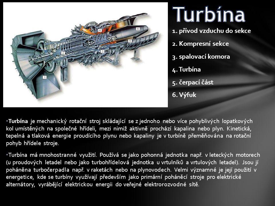 Turbína je mechanický rotační stroj skládající se z jednoho nebo více pohyblivých lopatkových kol umístěných na společné hřídeli, mezi nimiž aktivně p