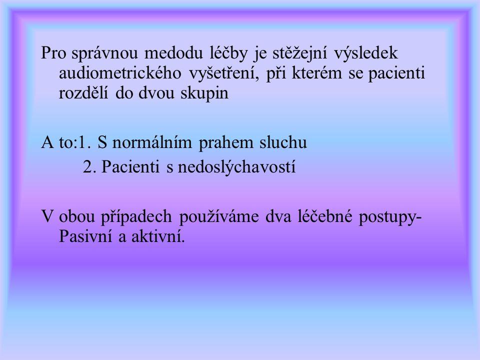 a)RTG středoušní a krční páteře b)MR c)Neurologické vyšetření d)Oční vyšetření e)Popřípadě metabolické či endokrinologické vyšetření Po všech těchto v