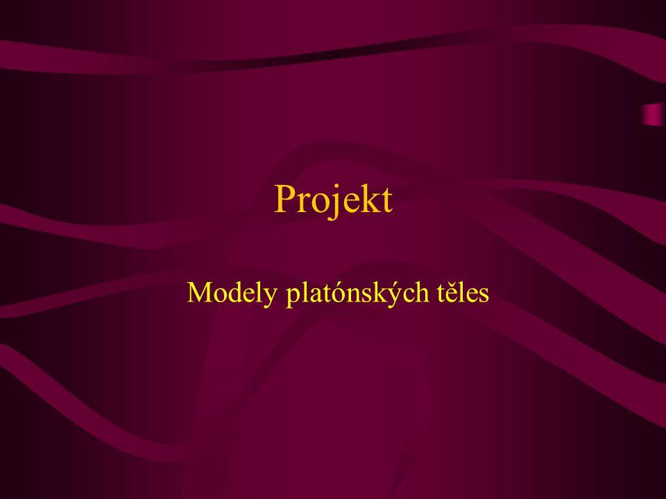 Projekt Modely platónských těles