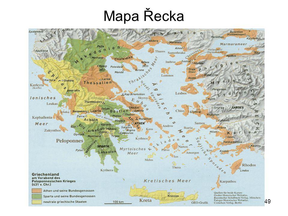 49 Mapa Řecka