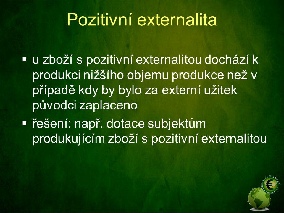 Náklady a externality  V souvislosti s externalitami vystupuje do popředí ještě více problém určení skutečných nákladů spojených s hospodářskou činností (produkcí výrobků a služeb a s tím spojenou spotřebou VF)  Jak vlastně definovat náklad na využití výrobního faktoru.