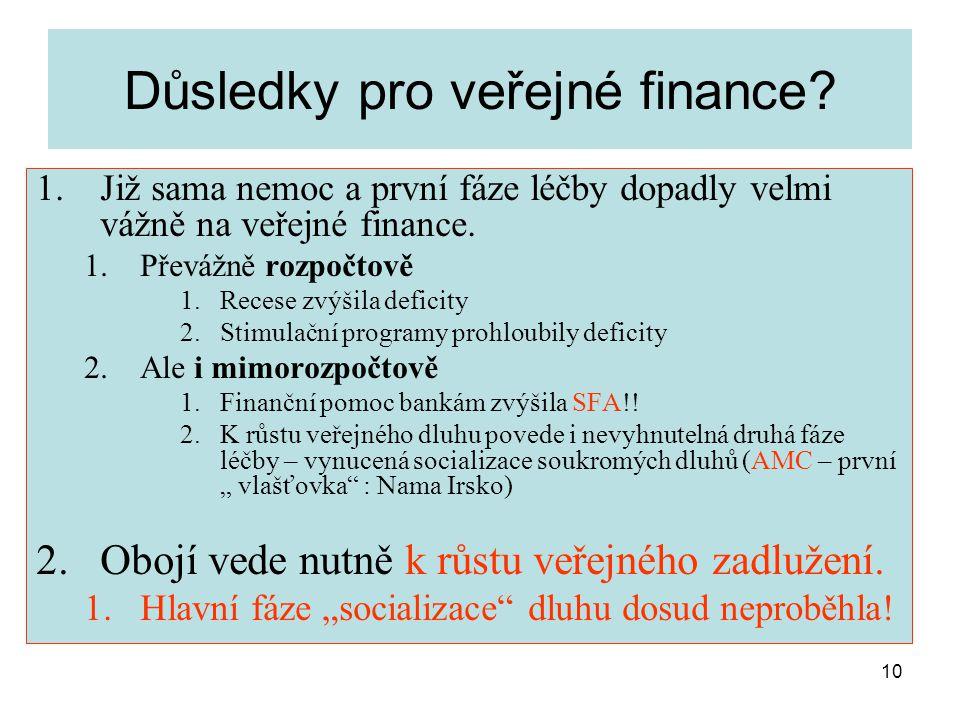 10 Důsledky pro veřejné finance.