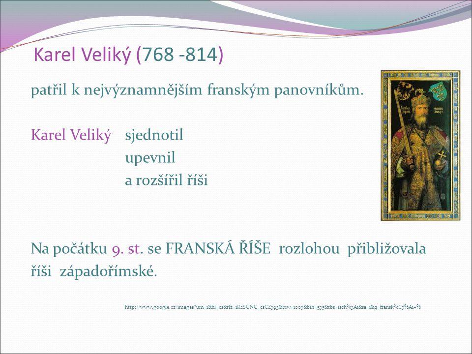 Franská říše Frankové se koncem 5. a počátkem 6. st.