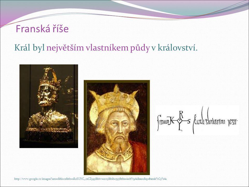 Karel Veliký (768 -814) r. 800 se nechal papežem korunovat na římského CÍSAŘE. K. Veliký se stěhoval z místa na místo. Říši rozdělil na hrabství  v č