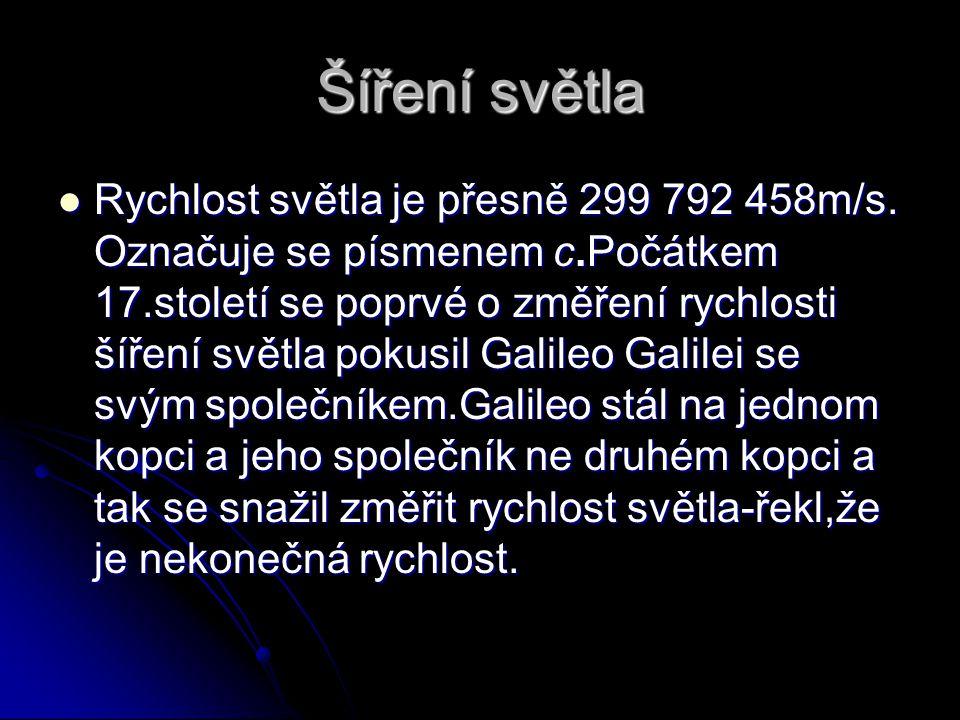Obrázek-Šíření světla Galileo Galilei měří rychlost světla. Galileo Galilei měří rychlost světla.