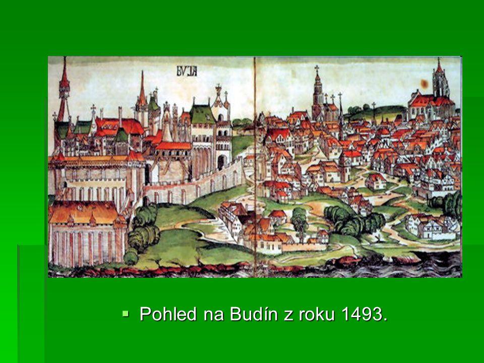  Pohled na Budín z roku 1493.