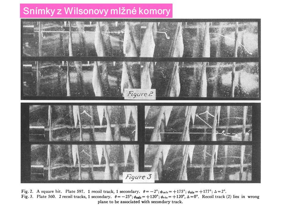 Snímky z Wilsonovy mlžné komory