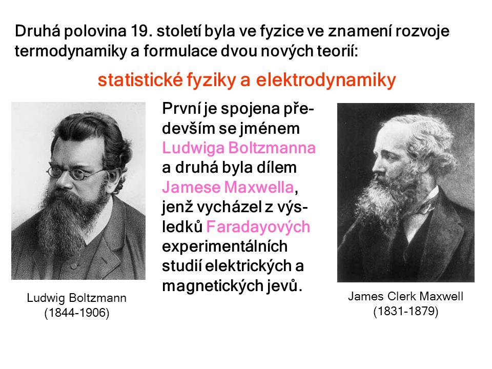 Druhá polovina 19. století byla ve fyzice ve znamení rozvoje termodynamiky a formulace dvou nových teorií: statistické fyziky a elektrodynamiky Ludwig