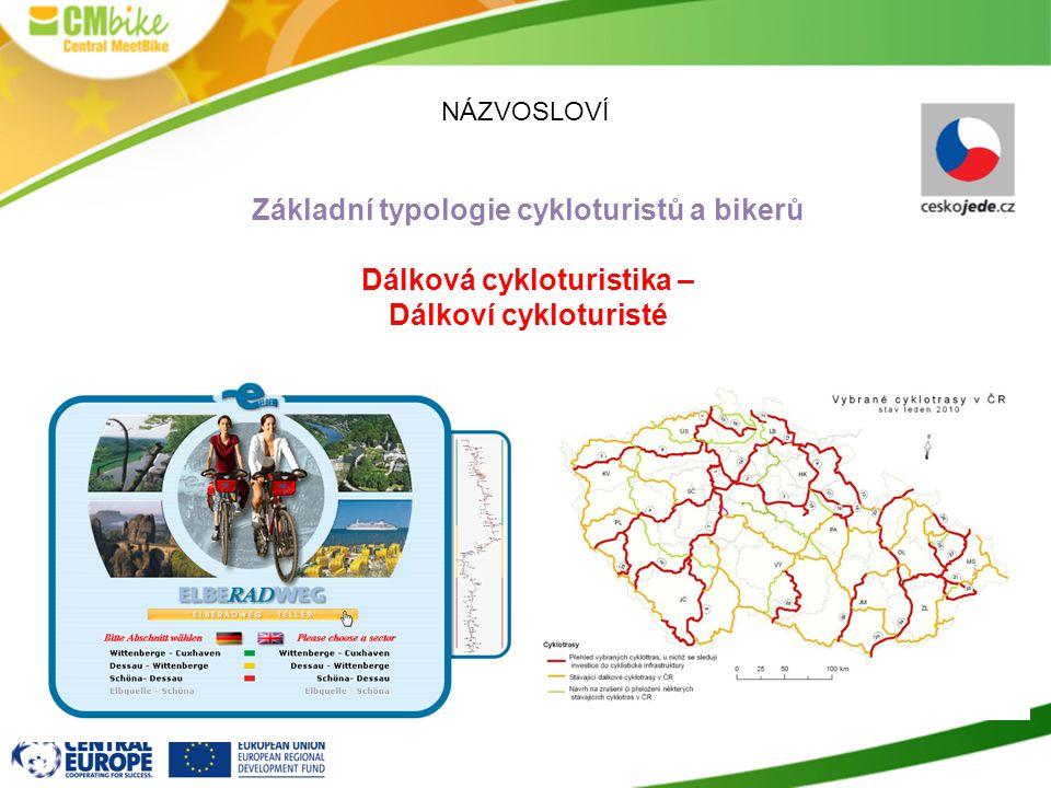 NÁZVOSLOVÍ Základní typologie cykloturistů a bikerů Dálková cykloturistika – Dálkoví cykloturisté