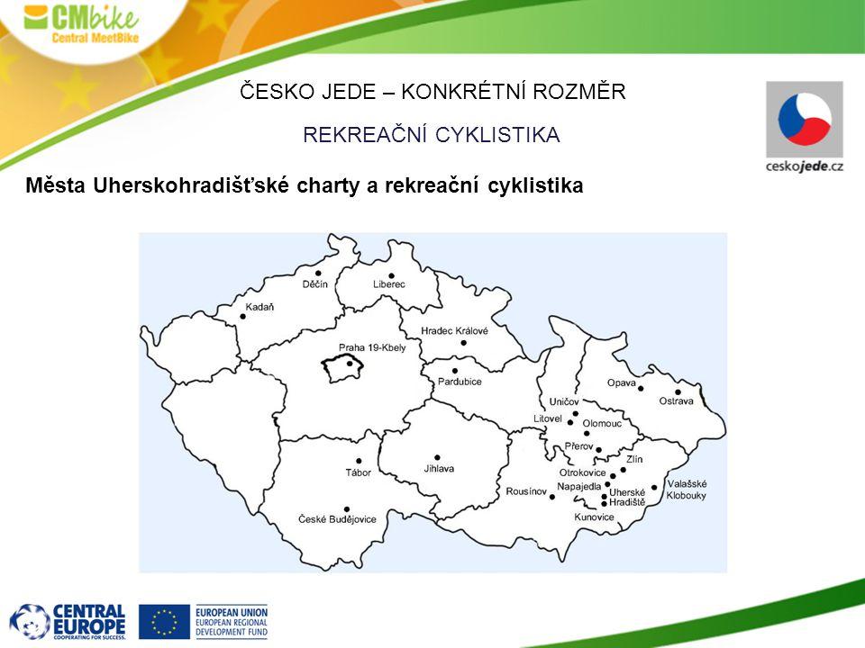 ČESKO JEDE – KONKRÉTNÍ ROZMĚR REKREAČNÍ CYKLISTIKA Města Uherskohradišťské charty a rekreační cyklistika
