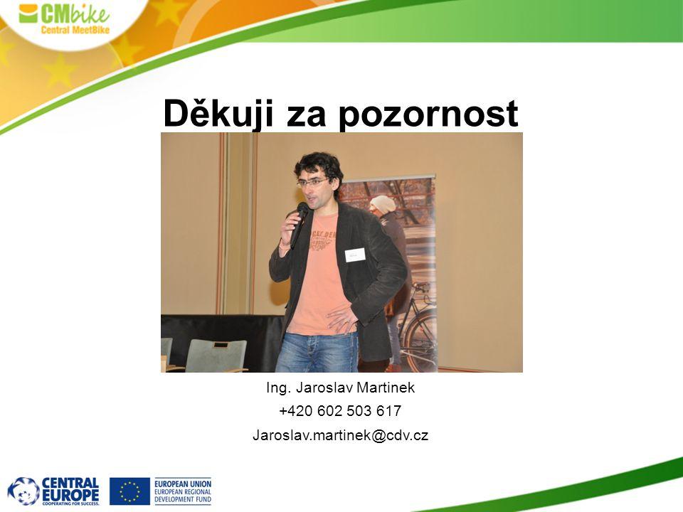 Děkuji za pozornost Ing. Jaroslav Martinek +420 602 503 617 Jaroslav.martinek@cdv.cz