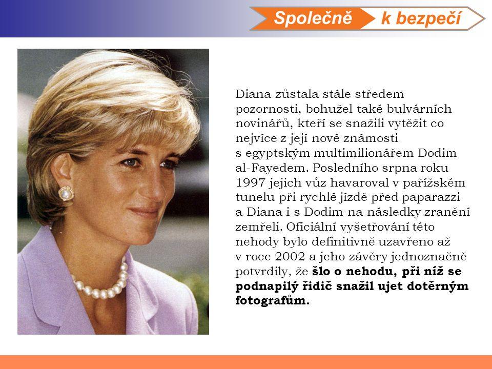 Diana zůstala stále středem pozornosti, bohužel také bulvárních novinářů, kteří se snažili vytěžit co nejvíce z její nové známosti s egyptským multimi