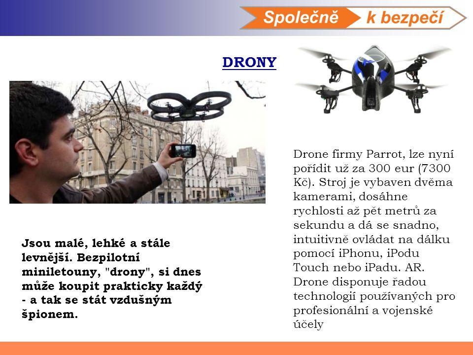 DRONY Jsou malé, lehké a stále levnější. Bezpilotní miniletouny,