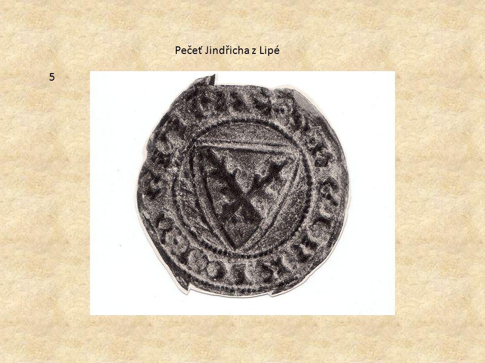 5 Pečeť Jindřicha z Lipé