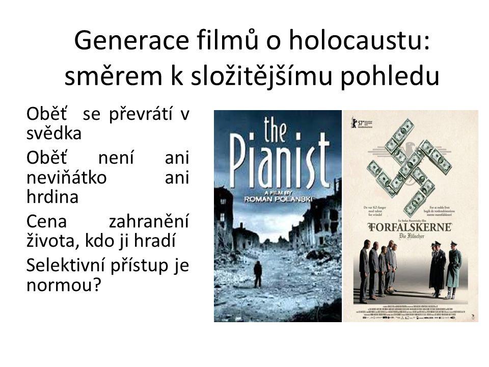 Generace filmů o holocaustu: směrem k složitějšímu pohledu Oběť se převrátí v svědka Oběť není ani neviňátko ani hrdina Cena zahranění života, kdo ji