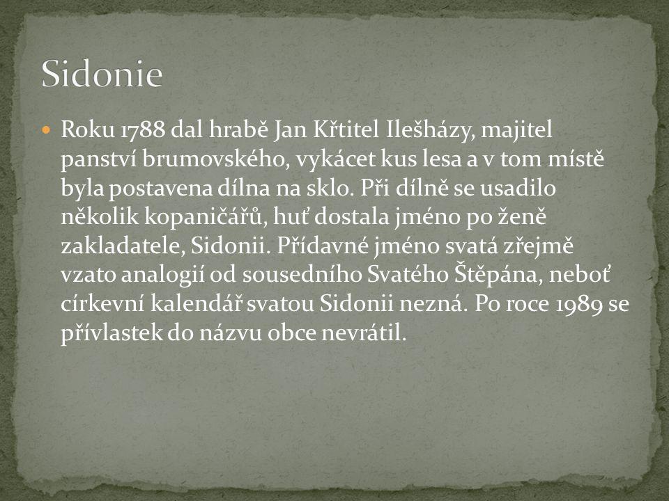 Roku 1815 založil majitel panství brumovského, hrabě Štěpán Ilešházy, skelnou huť, kterou pojmenoval po svém patronu.