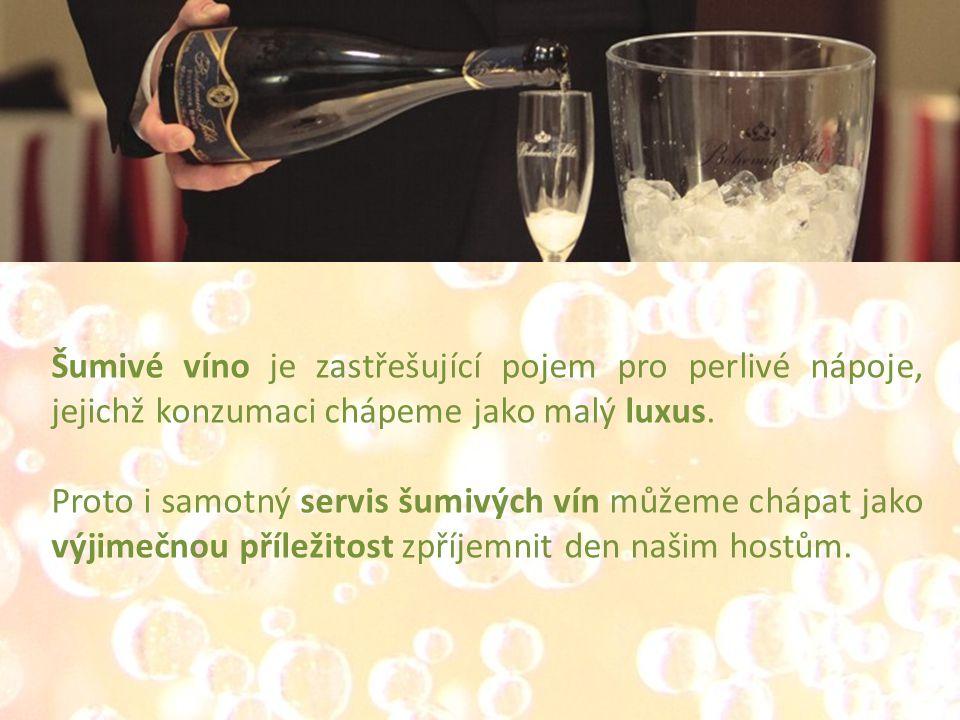 Šumivé víno je zastřešující pojem pro perlivé nápoje, jejichž konzumaci chápeme jako malý luxus.