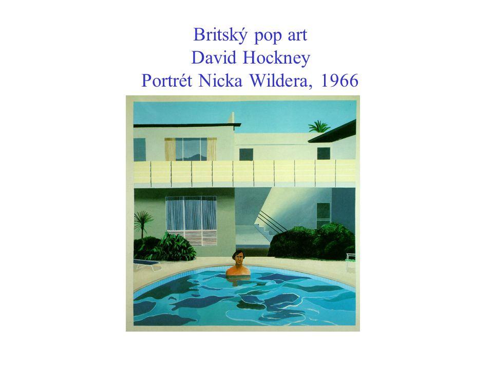 Britský pop art David Hockney Portrét Nicka Wildera, 1966
