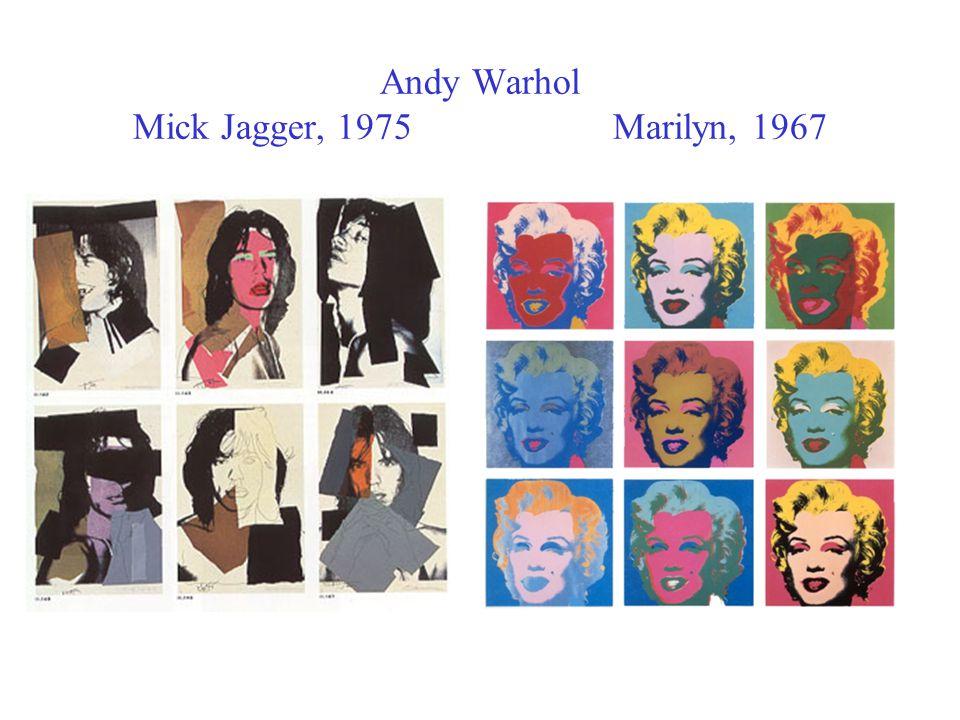 Andy Warhol Mick Jagger, 1975Marilyn, 1967