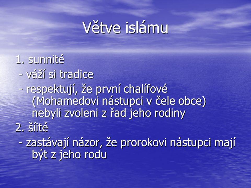 Větve islámu 1.