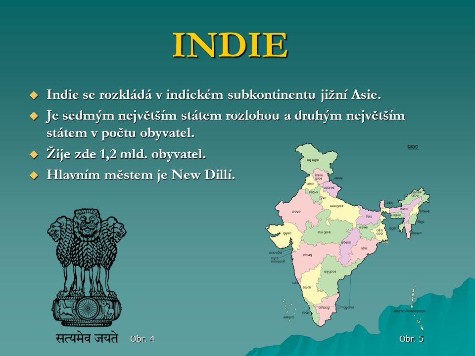  Indie se rozkládá v indickém subkontinentu jižní Asie.  Je sedmým největším státem rozlohou a druhým největším státem v počtu obyvatel.  Žije zde