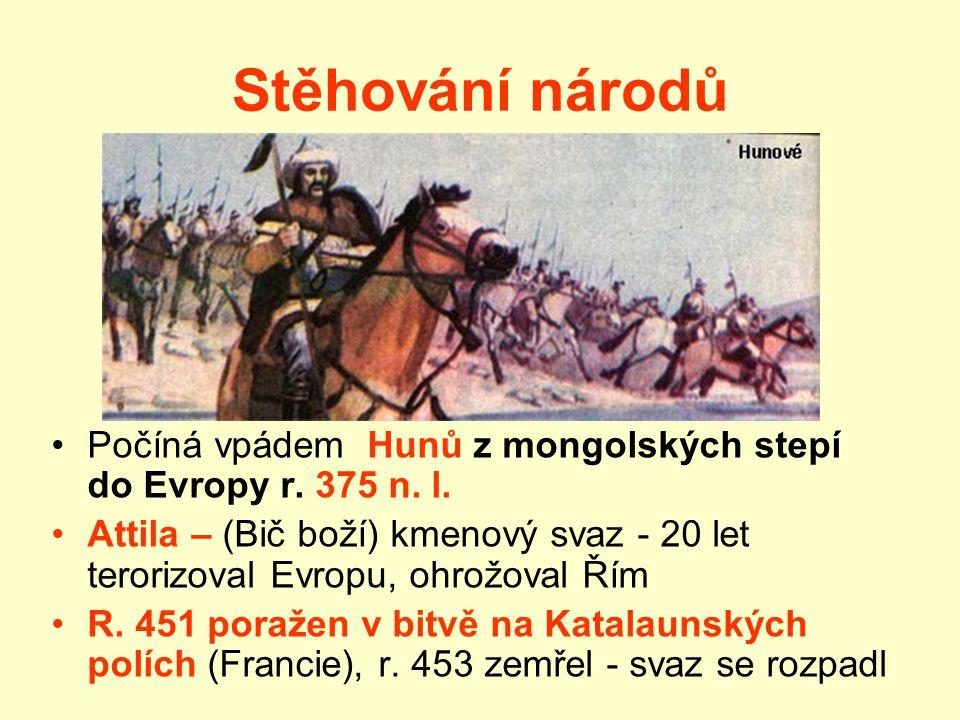 """Markomani """"Marobudova říše""""- jádro střední Čechy, počátek letopočtu Marobud – """"král"""" vytvořil kmenový svaz - vytlačen svými odpůrci, jinými germánským"""