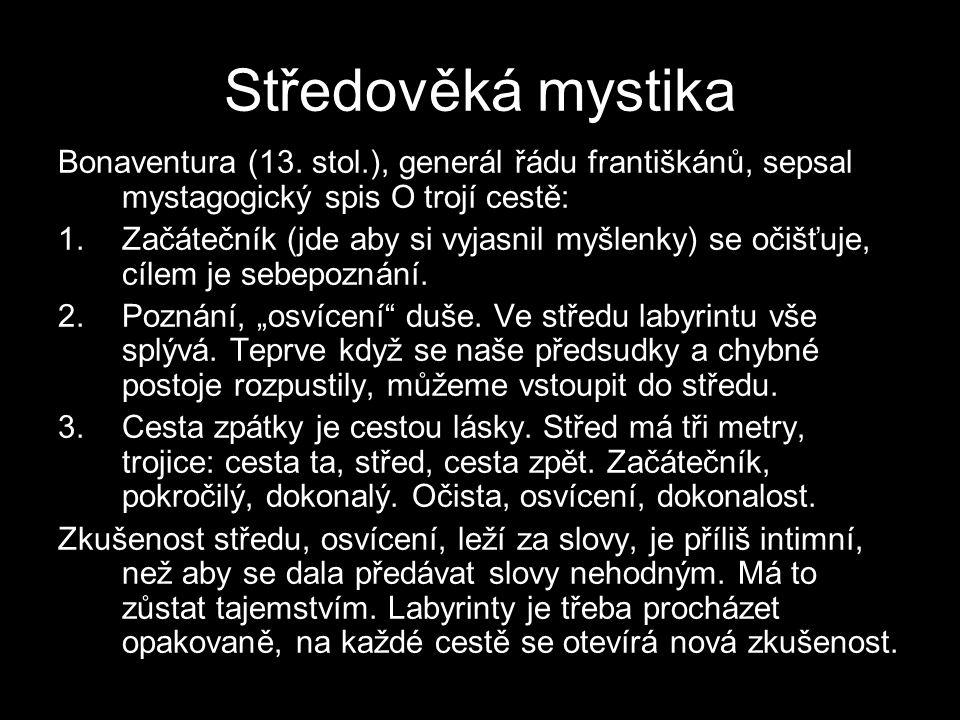 Středověká mystika Bonaventura (13.
