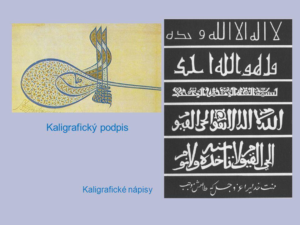 Kaligrafický podpis Kaligrafické nápisy