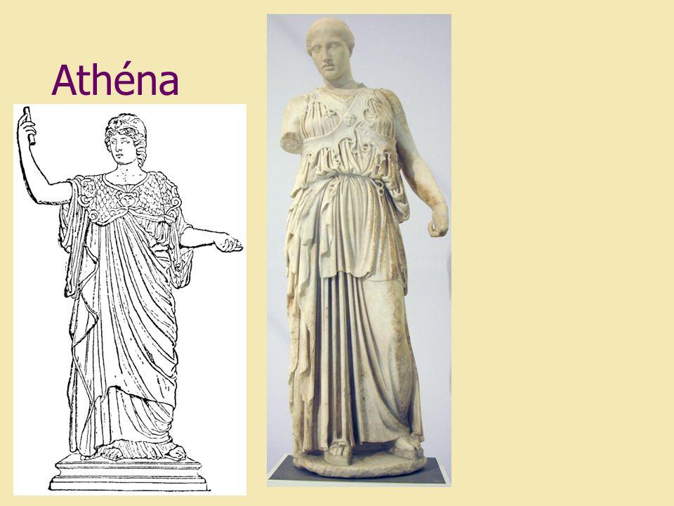 Akropolis - náboženské středisko Athén - pod ním čtvrtě řemeslníků a obchodníků - zemědělci žili ve vesnicích po celém poloostrově - uprostřed Athén náměstí -trh, kde nabízeli řemeslníci svoje výrobky, zemědělci plodiny, obchodovalo se zde i s otroky athénské mince hlava bohyně Athény, na druhé straně sova