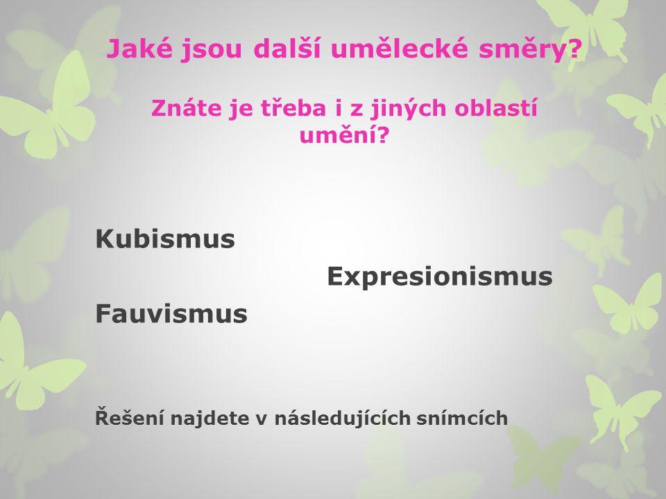Kubismus Spojení poezie s malířstvím (propagátor J.