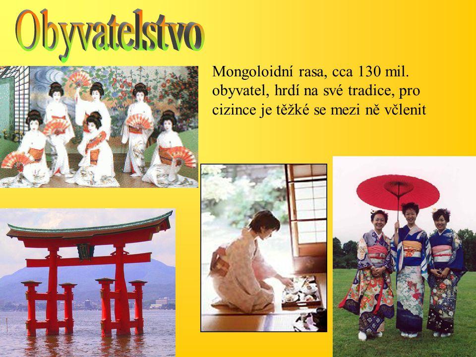 Mongoloidní rasa, cca 130 mil. obyvatel, hrdí na své tradice, pro cizince je těžké se mezi ně včlenit