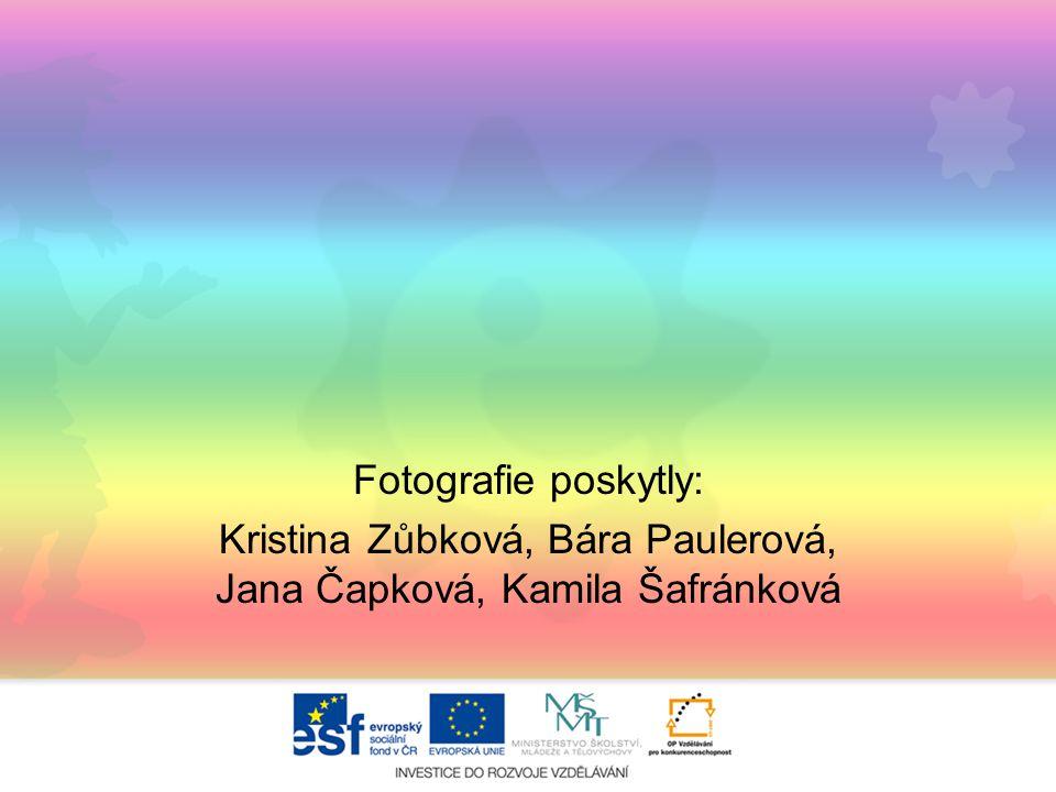 Fotografie poskytly: Kristina Zůbková, Bára Paulerová, Jana Čapková, Kamila Šafránková
