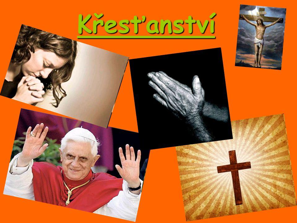 Pochází z Nazaretu (Palestina), narosil se kolem roku 4 či 5 letopočtu Považován za zakladatele Křesťanství O jeho životě pojednávají evangelia (dobrá zpráva) podle Jana, Marka, Lukáše a Matouše Ježíš kázal křesťanskou lásku pro všechny lidi bez rozdílu; přinášel vidinu (slib) v království boží, věčného a spravedlivého O jeho ukřižování bylo rozhodnuto v roce 30 Jeho učedníci dosvědčují, že vstal z mrtvých Ježíš Kristus