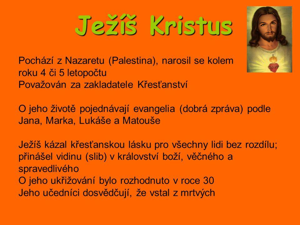 Pochází z Nazaretu (Palestina), narosil se kolem roku 4 či 5 letopočtu Považován za zakladatele Křesťanství O jeho životě pojednávají evangelia (dobrá