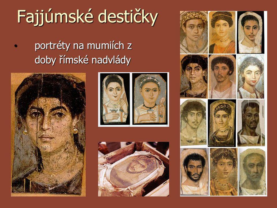 Fajjúmské destičky portréty na mumiích z doby římské nadvlády portréty na mumiích z doby římské nadvlády