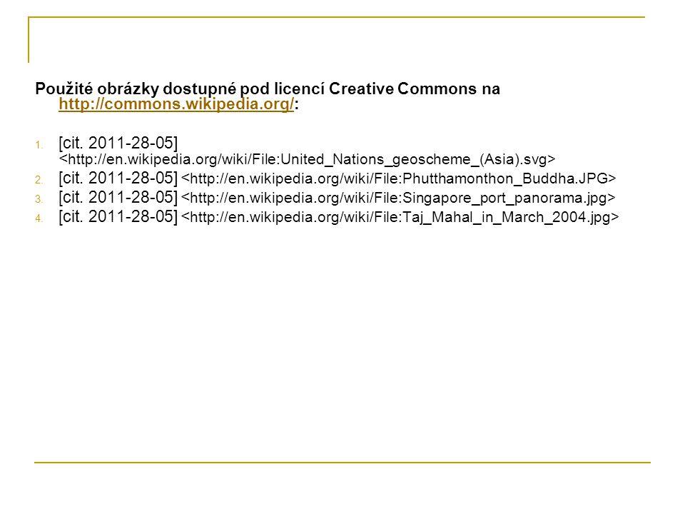 Použité obrázky dostupné pod licencí Creative Commons na http://commons.wikipedia.org/: http://commons.wikipedia.org/ 1. [cit. 2011-28-05] 2. [cit. 20