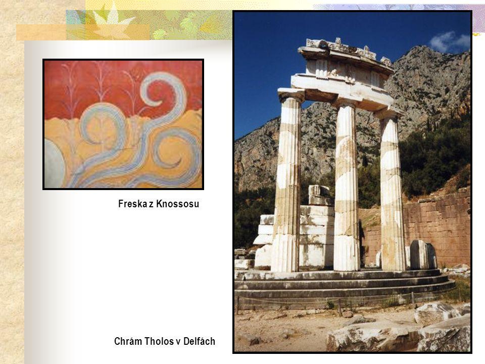 Chrám Tholos v Delfách Freska z Knossosu