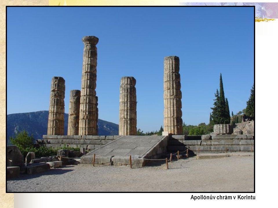 Apollónův chrám v Korintu