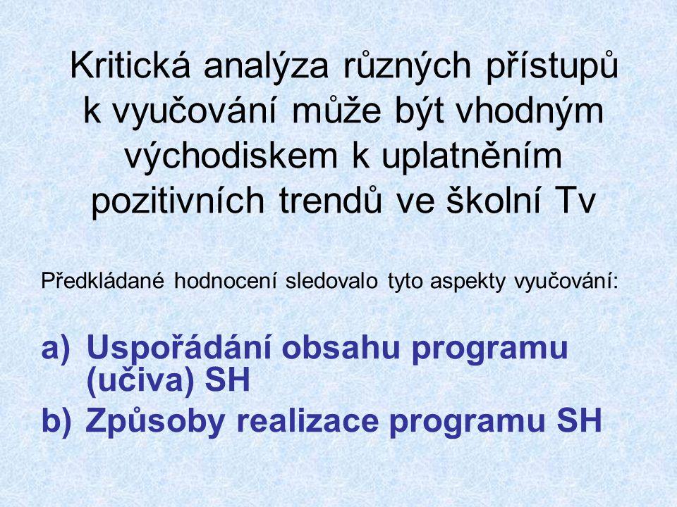 Uspořádání obsahu programu (učiva) SH - Struktura programu na makro- i mikroúrovni a v časové horizontální a vertikální dimenzi