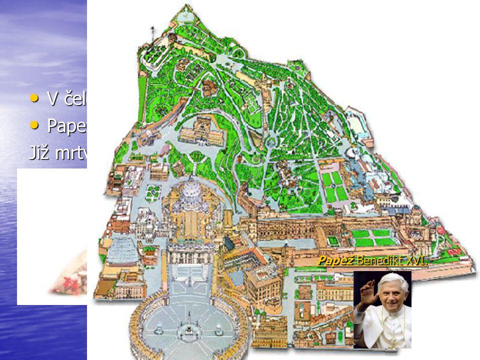 V čele Římskokatolické církve stojí papež V čele Římskokatolické církve stojí papež Papež sídlí ve Vatikánu Mapka Vatikánu Papež sídlí ve Vatikánu Map