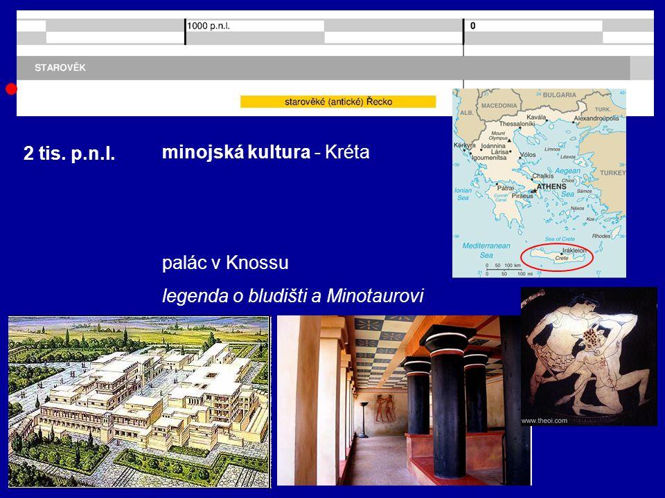 2 tis. p.n.l. mykénská kultura - Mykény