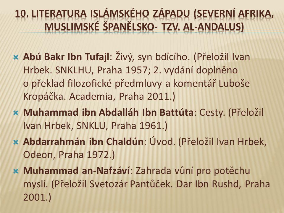  Abú Bakr Ibn Tufajl: Živý, syn bdícího.(Přeložil Ivan Hrbek.