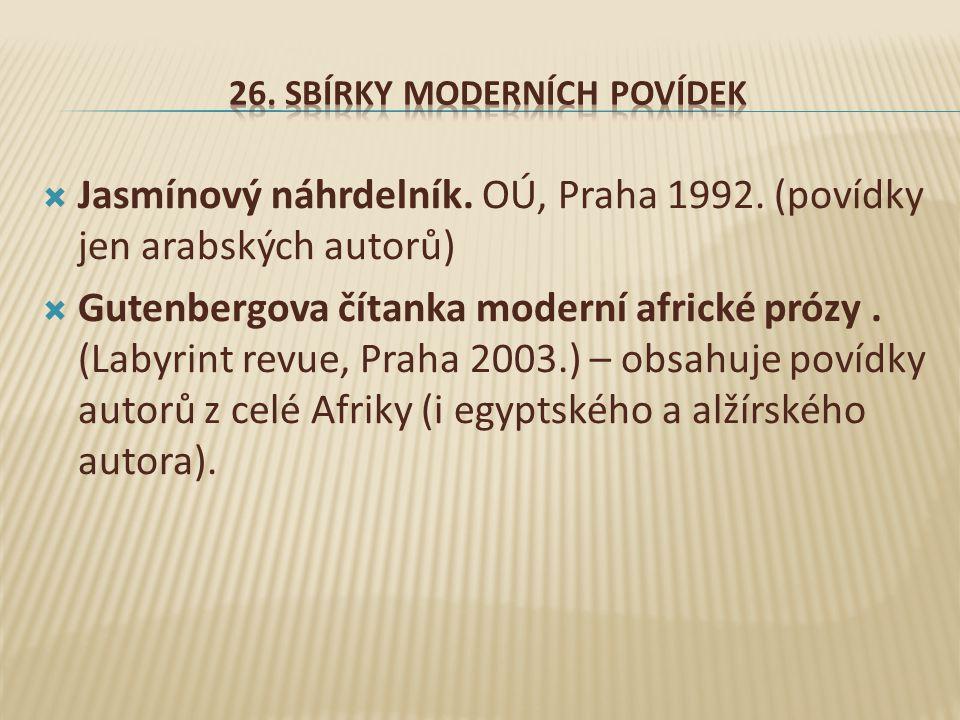  Jasmínový náhrdelník.OÚ, Praha 1992.