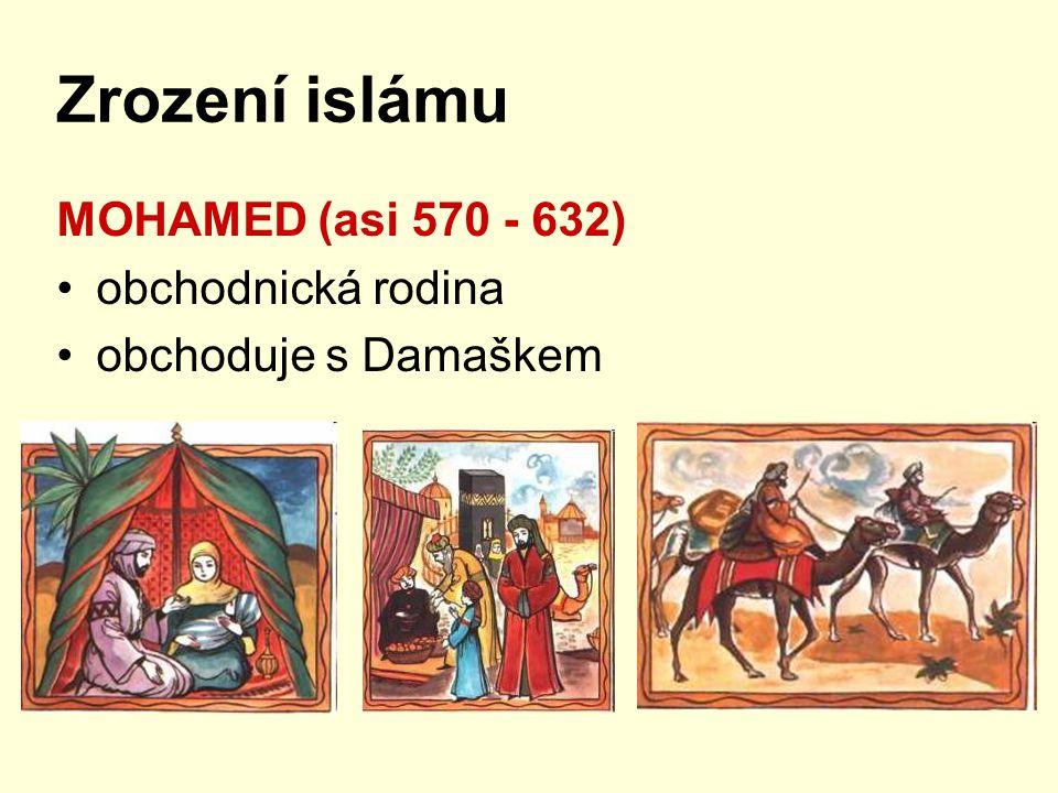 Co jsme si zapamatovali.1)Jaké náboženství vyznávali Arabové před vystoupením Mohameda.