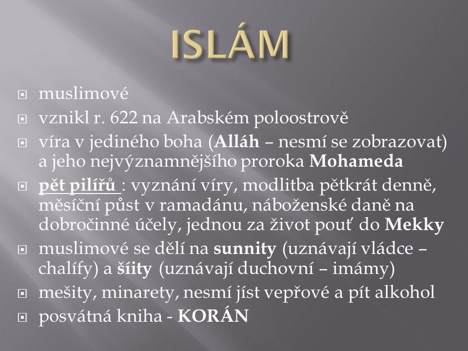  muslimové  vznikl r.