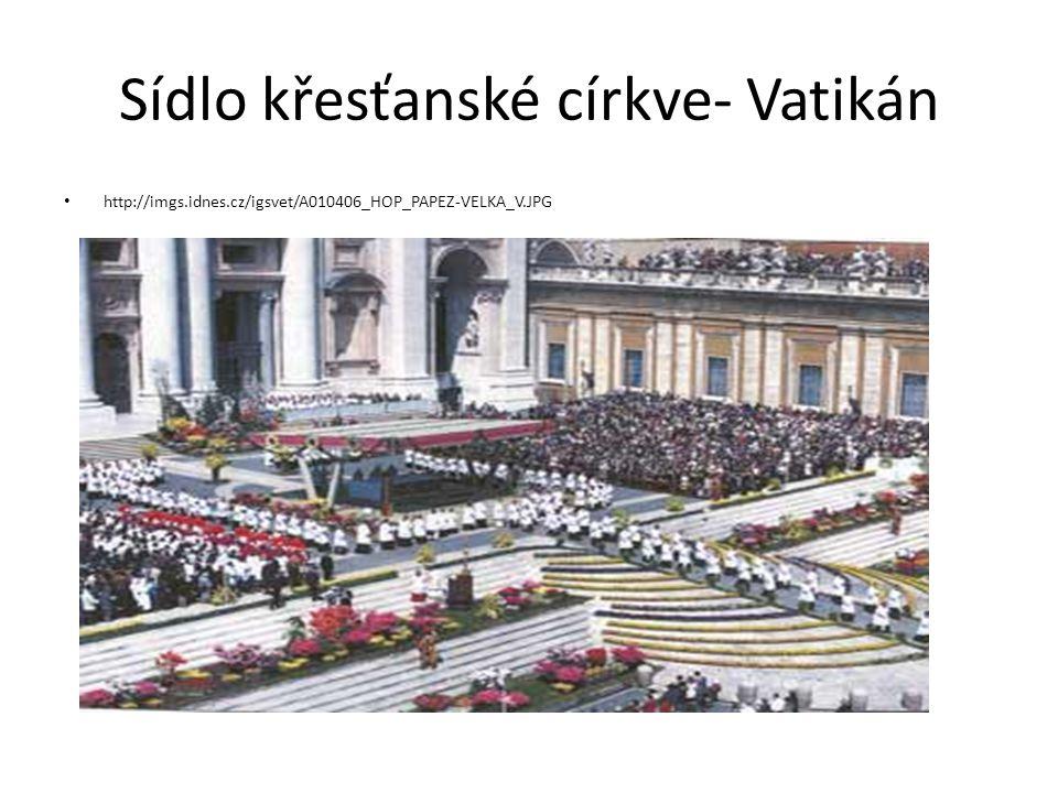 Sídlo křesťanské církve- Vatikán http://imgs.idnes.cz/igsvet/A010406_HOP_PAPEZ-VELKA_V.JPG