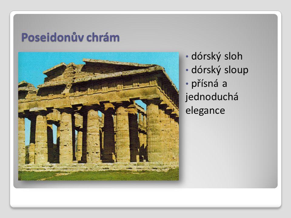 Poseidonův chrám dórský sloh dórský sloup přísná a jednoduchá elegance