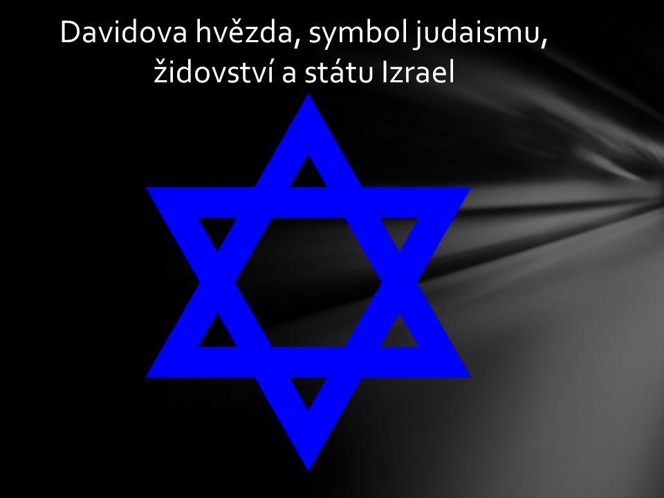 Davidova hvězda, symbol judaismu, židovství a státu Izrael